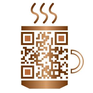 Creatieve QR-code voor Open Coffee Vijfheerenlanden