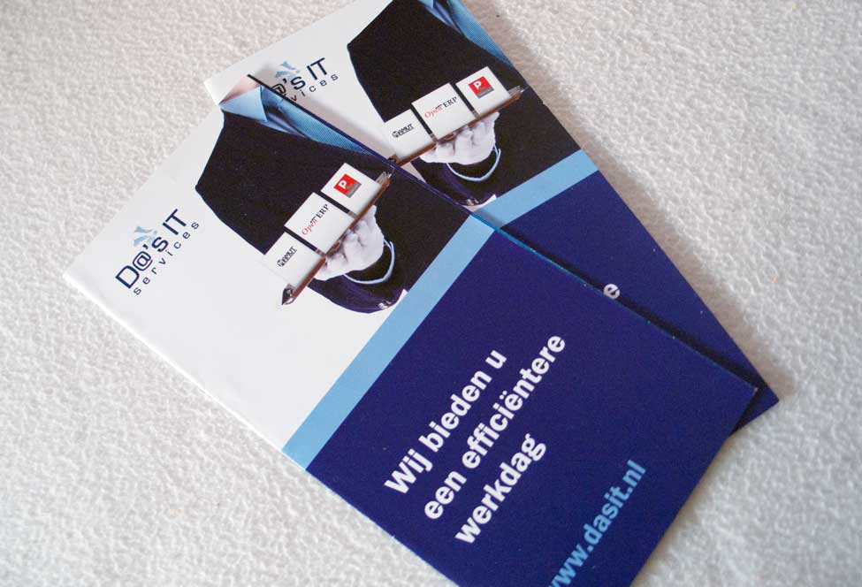 Drieluik folder Da's IT services