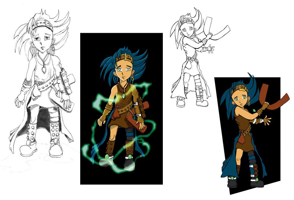 Illustratie fantasie/sprookjes-karakter