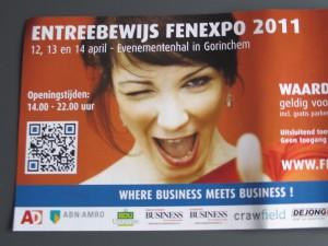 QR-code op Fenexpo entreebewijs