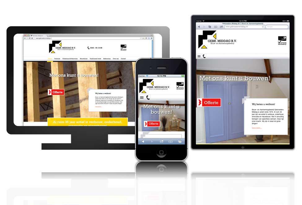 Website ontwerp en realisatie Gebroeders Middag