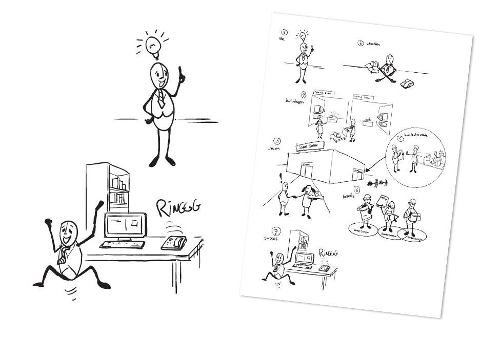 Illustraties 'Kenniswinkel' voor Grover Advies