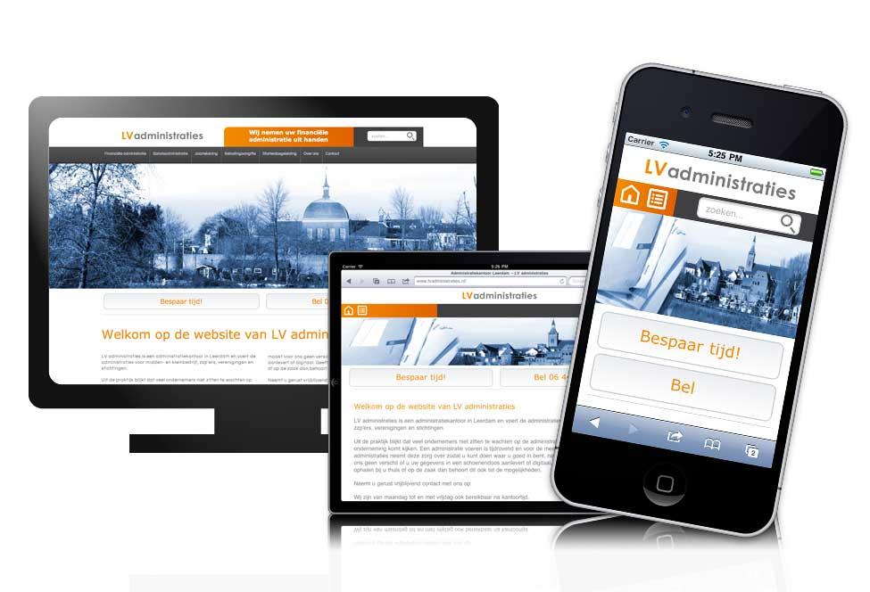 Website voor LV administraties