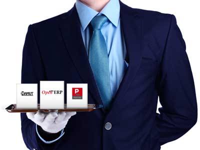 Promotie-folder voor Da's IT services