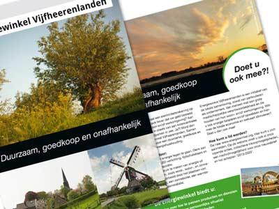 Flyer voor Energiewinkel Vijfheerenlanden
