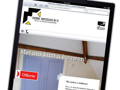 Website Gebroeders Middag