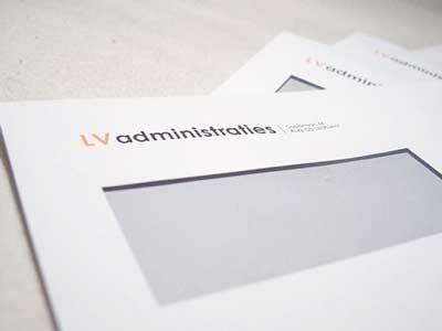 Huisstijl bedrukte enveloppen LV administraties