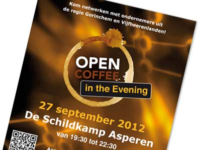 Promotiematerialen Open Coffee in the Evening