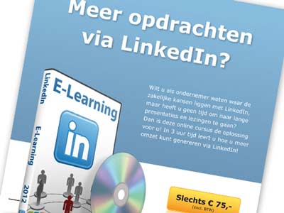 Flyer 'E-learning' voor TTM Communicatie