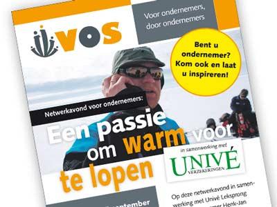 VOS advertentie 'Passie' voor de krant