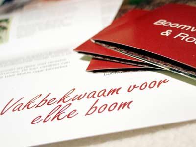 Drieluik-folder Woudstra Groen