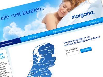 Webdesign en flyer Morgana