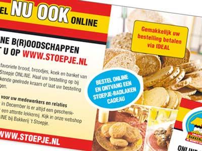Advertentie bakkerij 't Stoepje