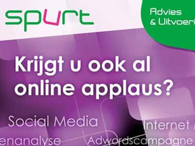 Poster 'Online applaus' voor Spurt