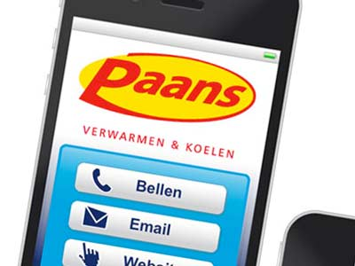 Mobiele contactpagina 'Paans' voor smartphones