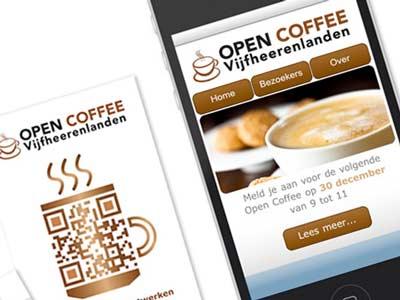 Mobiele website OCVHL (Open Coffee Vijfheerenlanden)