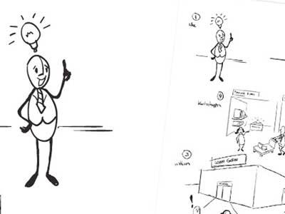 Illustratie 'Kenniswinkel' Grover Advies