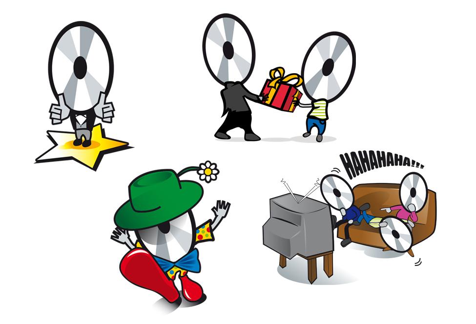 Illustratie Sony 'Sonny' - mascotte