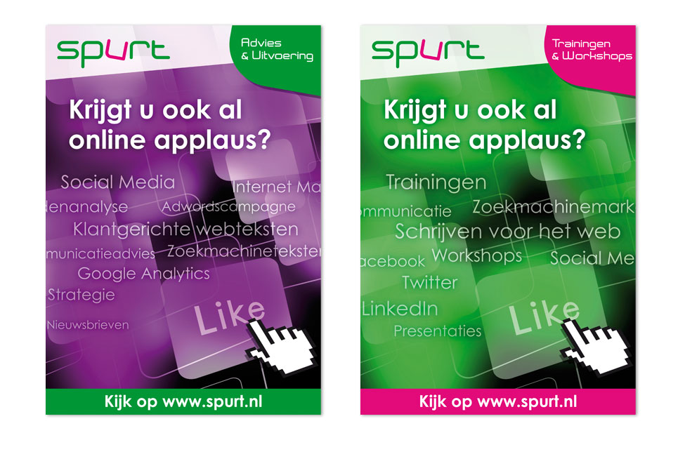 Posters 'Online applaus' voor Spurt