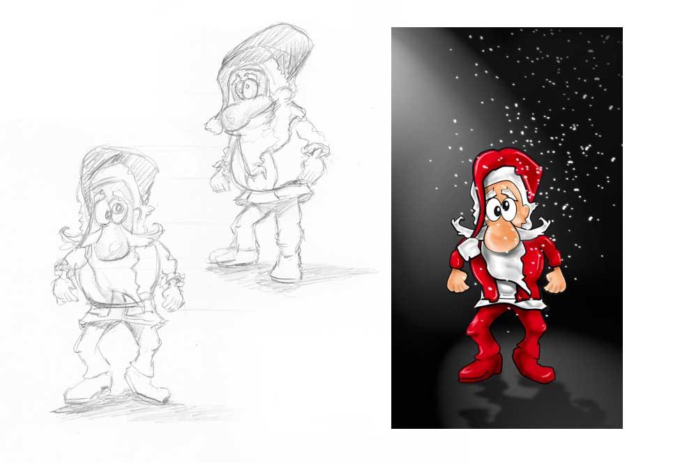 Illustratie 'kerstman'
