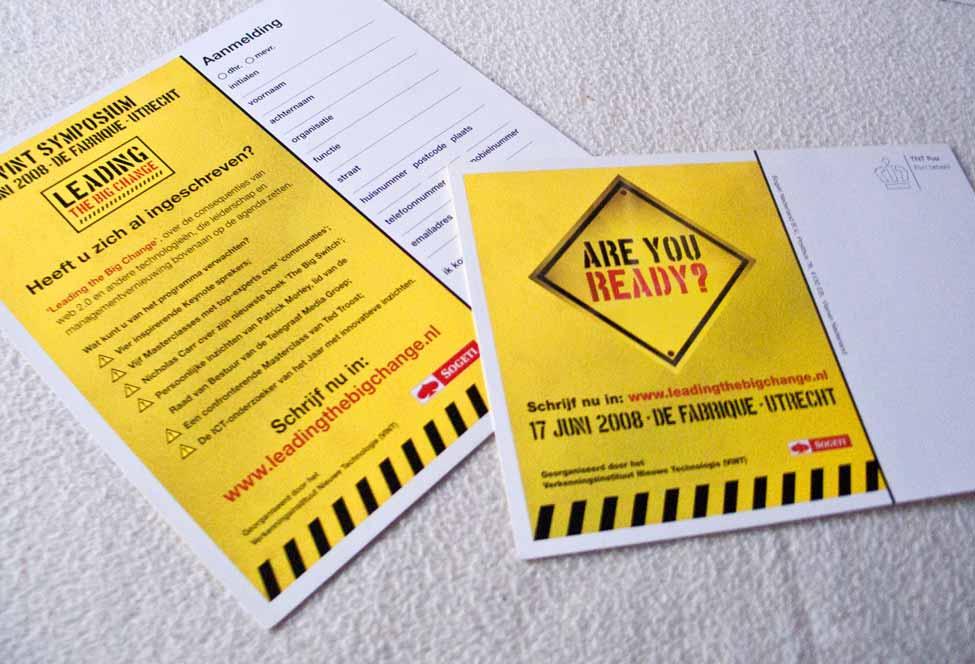 Grafisch ontwerp uitnodigingskaart VINT Symposium 2008