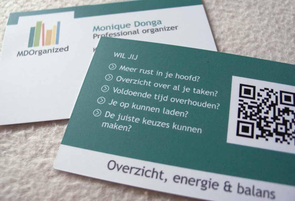 Visitekaartje MDOrganized