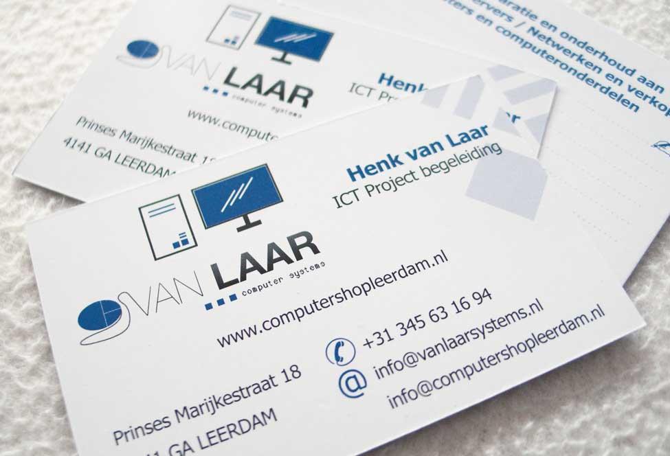 Vormgeving visitekaartje Van Laar Computer Systems