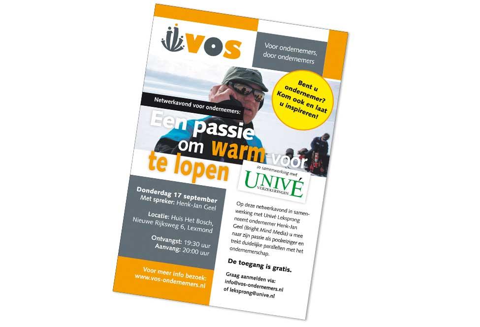 Advertentie VOS 'Een passie om warm voor te lopen'