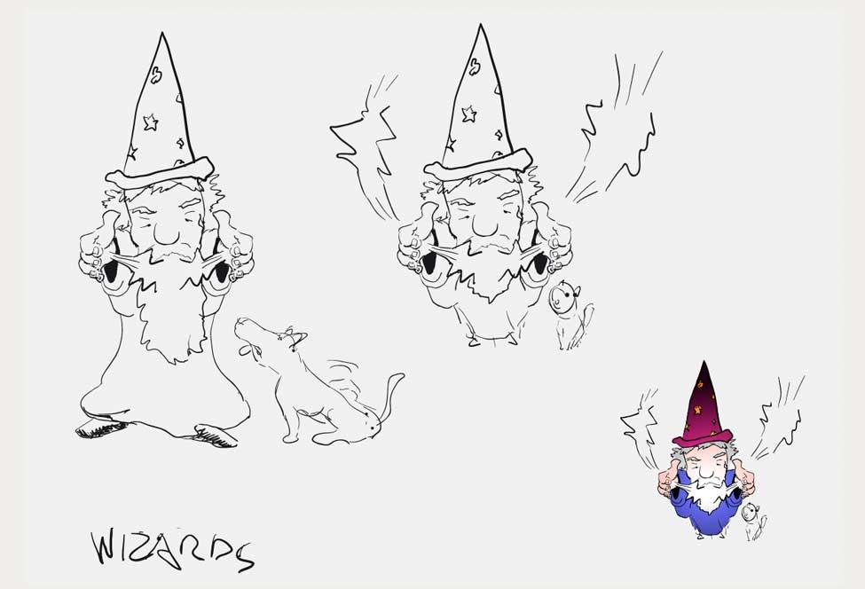 wizards illustratie