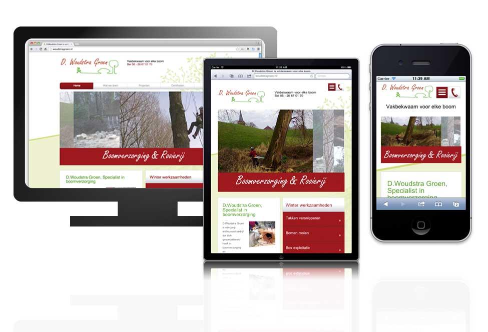 Reponsive website Woudstra Groen